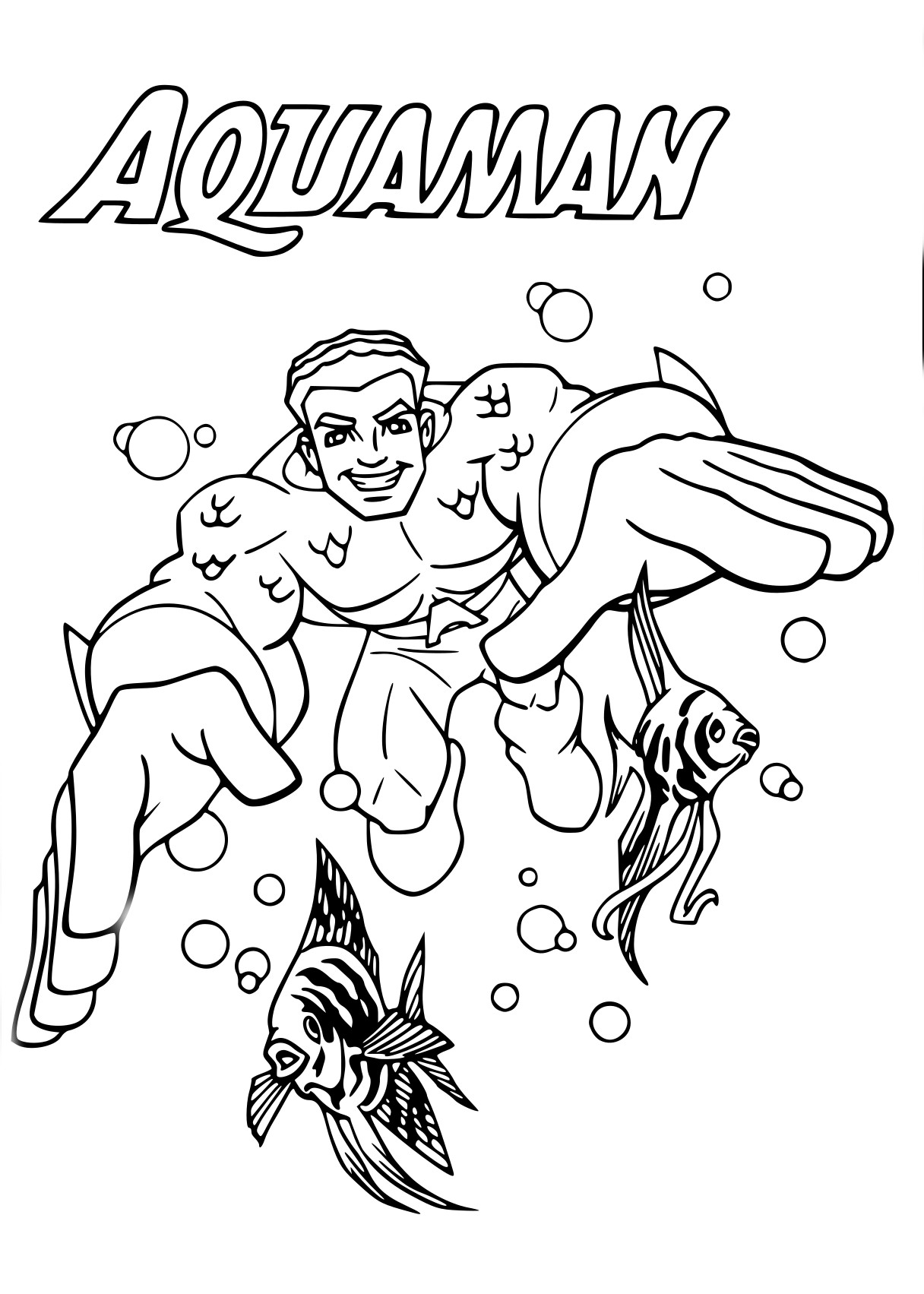 Coloriage Aquaman