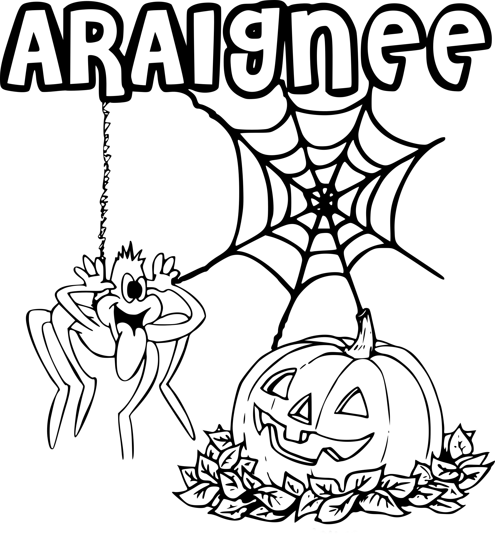 Coloriage Araignée Halloween à Imprimer