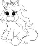 Coloriage bebe poney