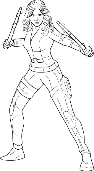 Coloriage Black Widow
