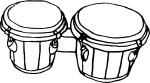 Coloriage bongo