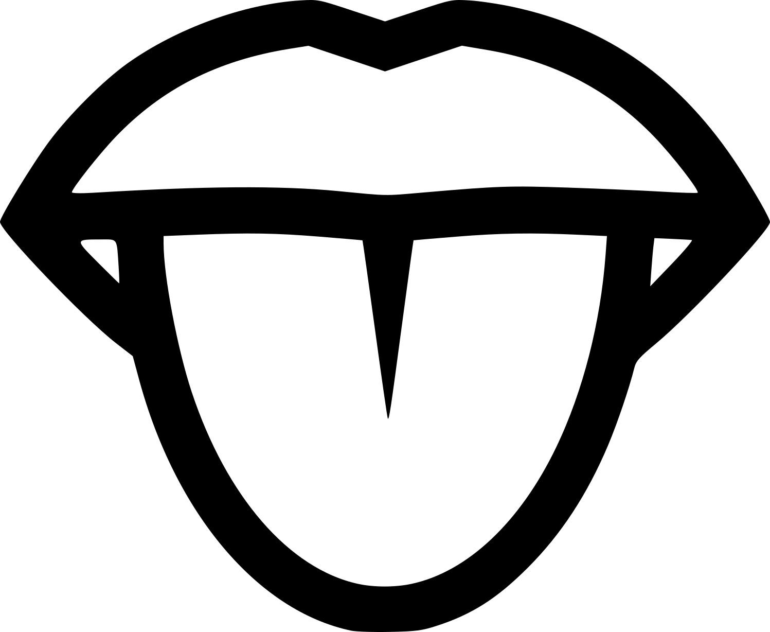 Coloriage bouche et langue imprimer - Bouche en dessin ...