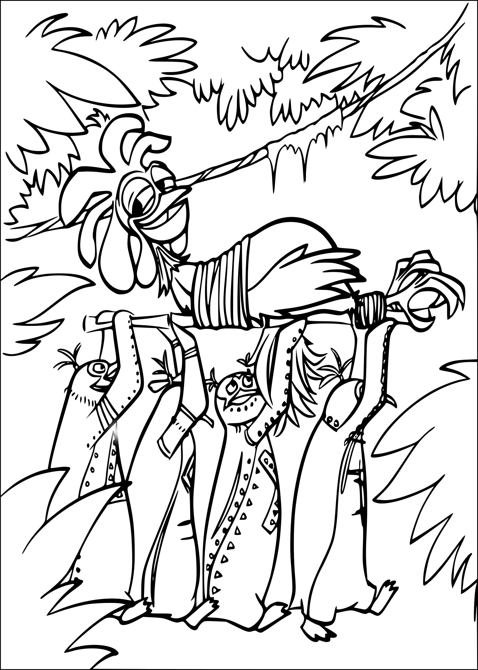 Coloriage Chicken Joe les rois de la glisse