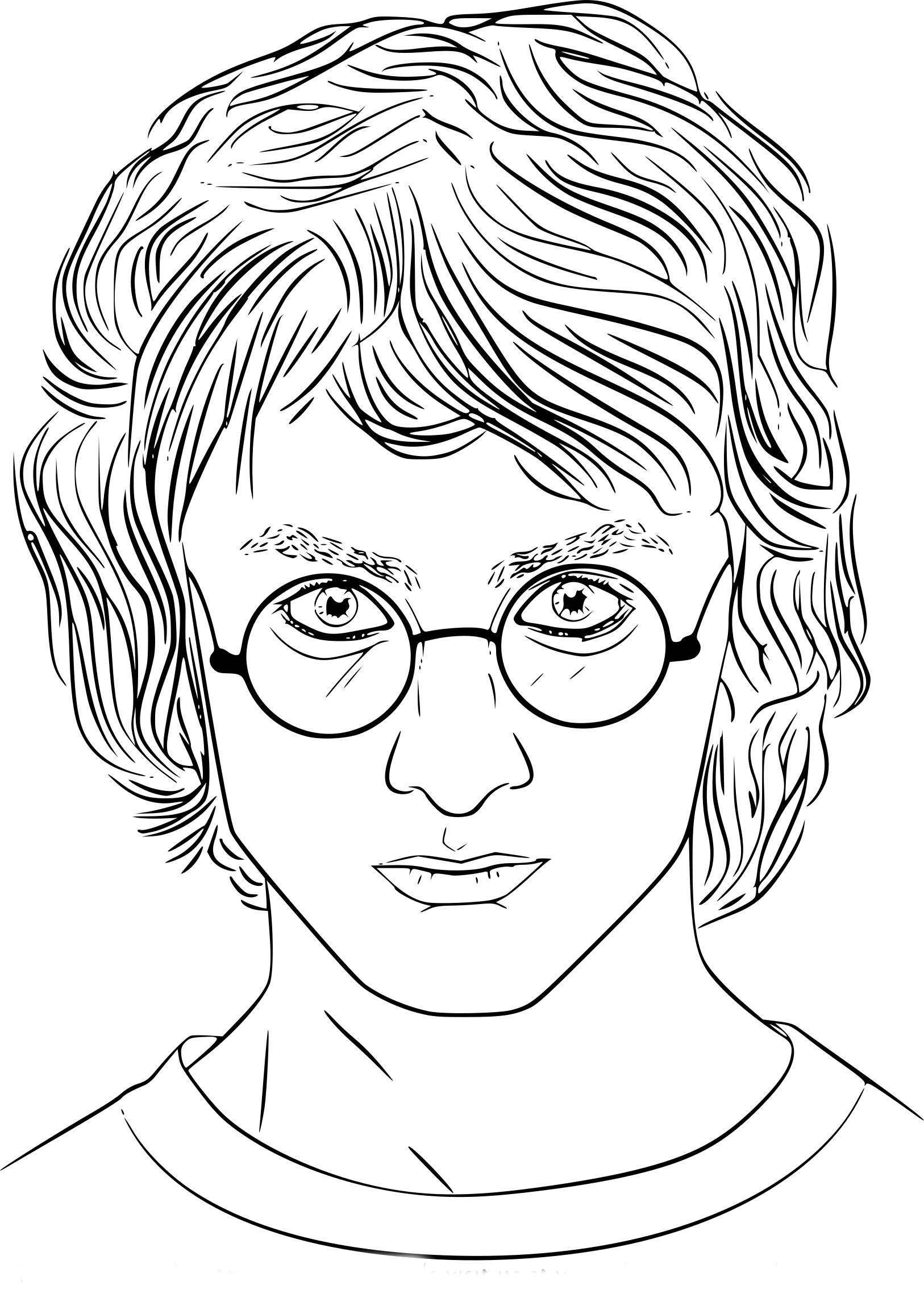 Coloriage Daniel Radcliffe Harry Potter à imprimer
