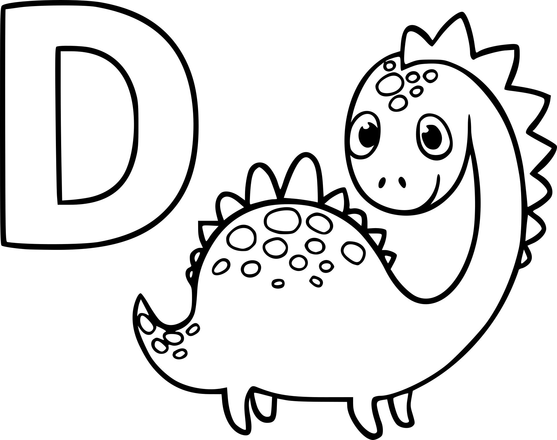 Coloriage D comme dinosaure