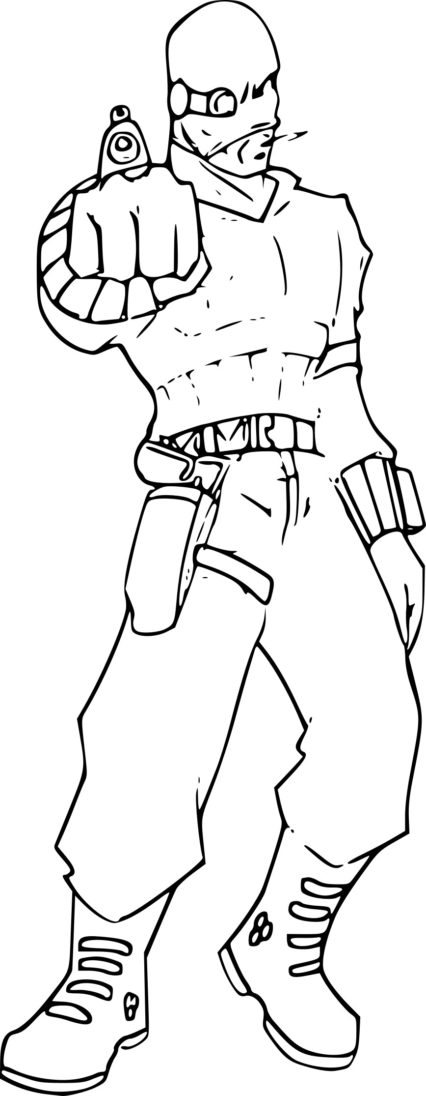 Coloriage deadshot