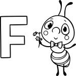 Coloriage F comme fourmi