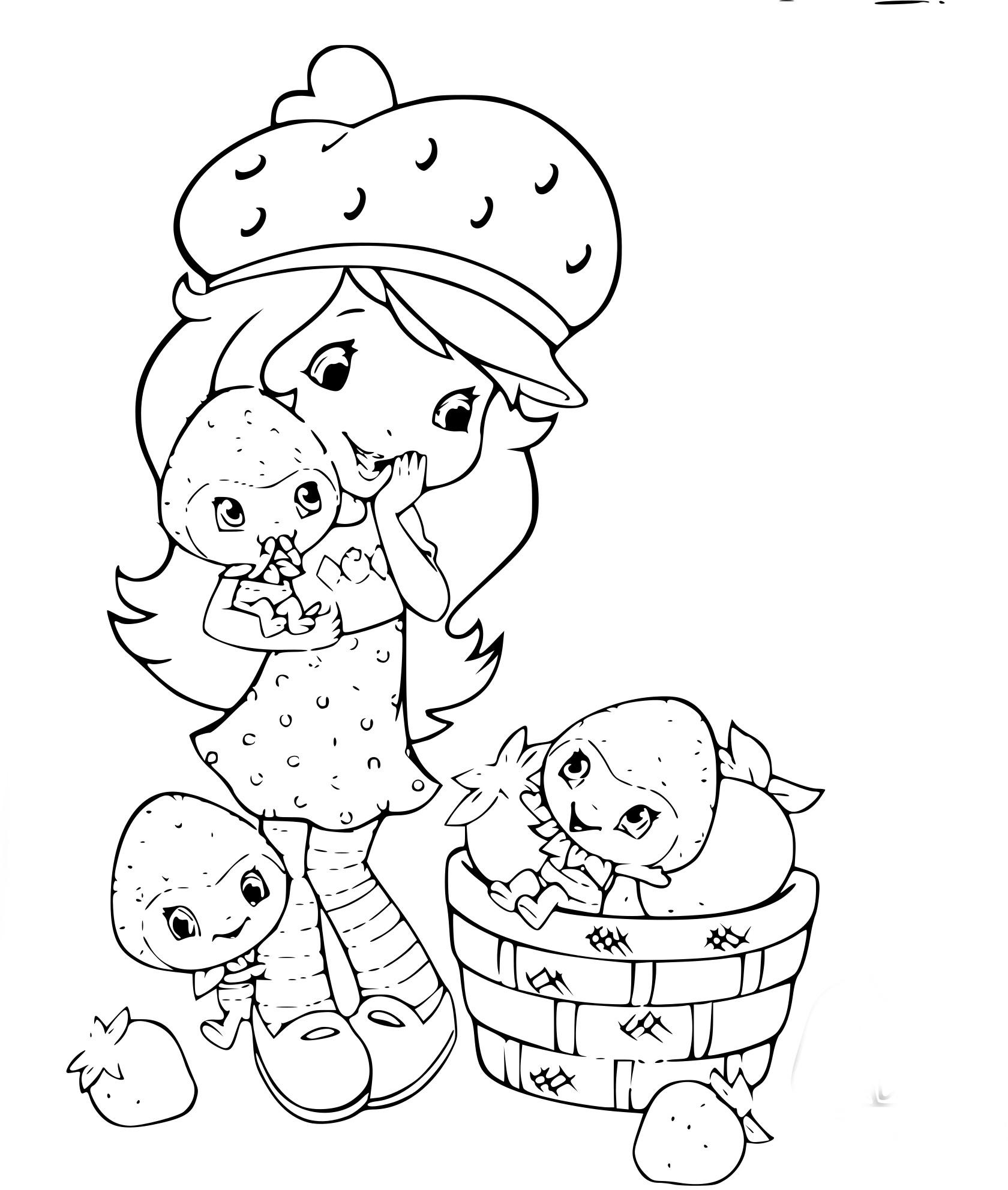 Coloriage fraisinette