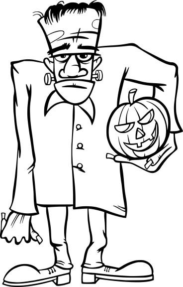 Coloriage Frankenstein Halloween