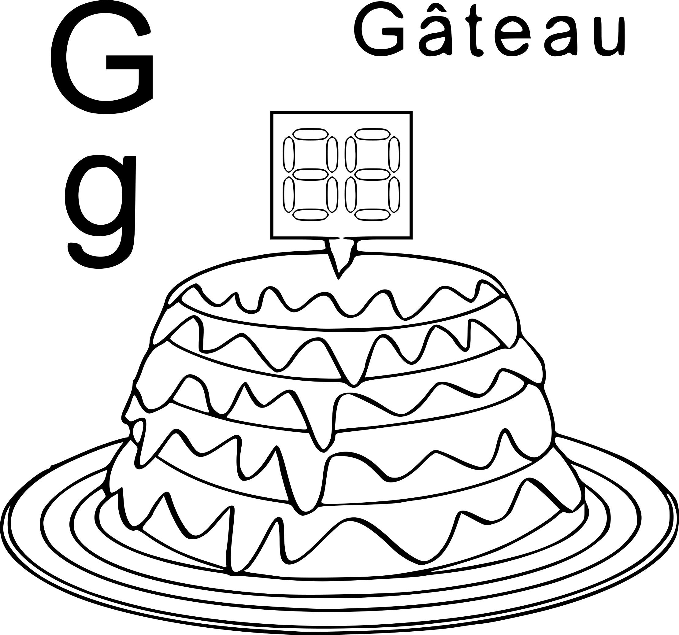 Coloriage g comme gateau imprimer - Coloriage de gateau ...