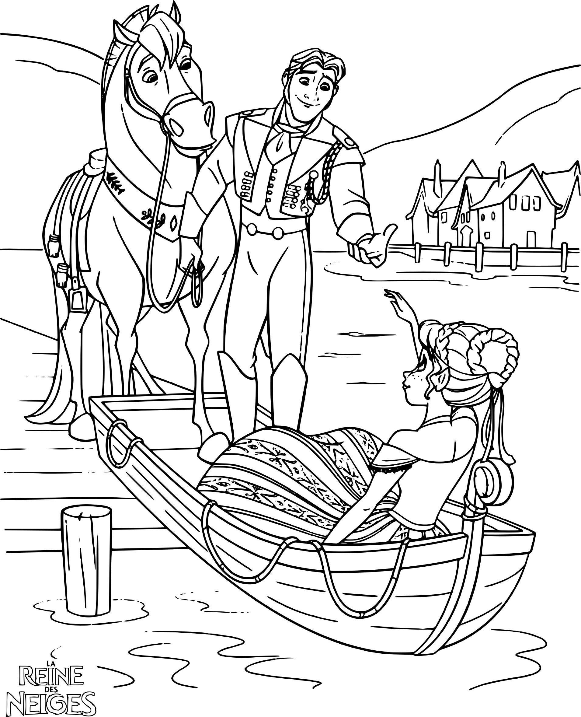 Coloriage Hans et Anna
