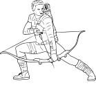 Coloriage Hawkeye