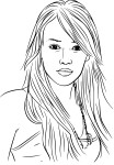 Coloriage Hilary Duff