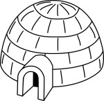 Coloriage igloo