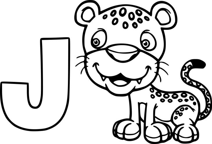 Coloriage J comme Jaguar