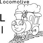Coloriage L comme locomotive
