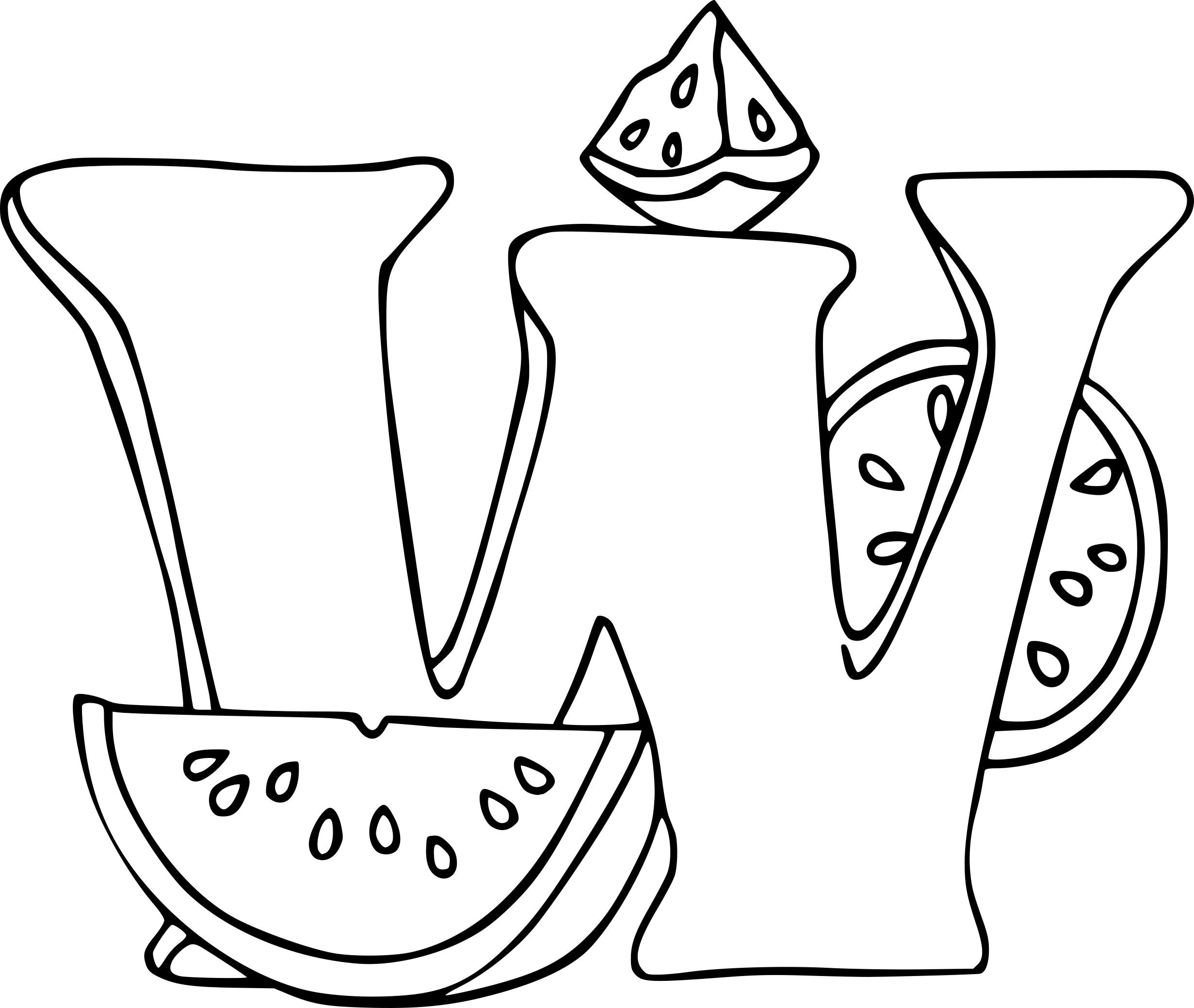 Coloriage lettre W
