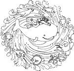 Coloriage mandala animaux marins