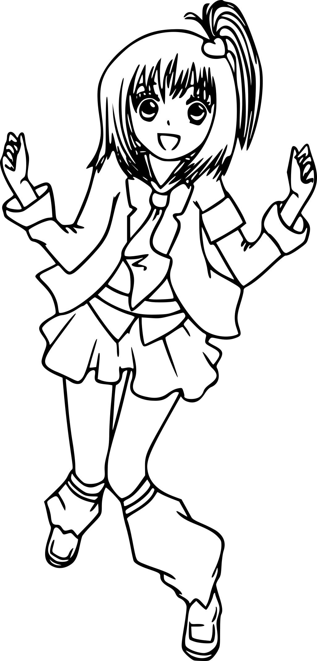 Coloriage manga Shugo Chara