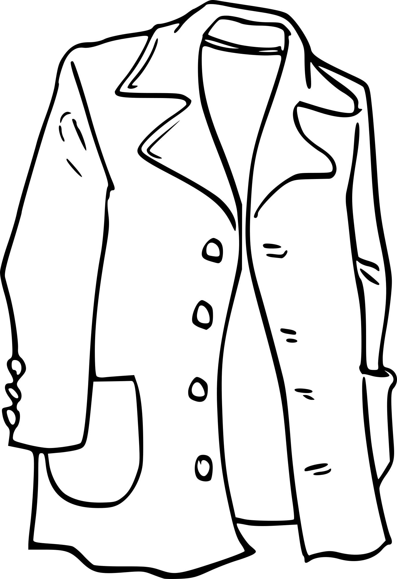 Coloriage manteau imprimer - Manteau dessin ...
