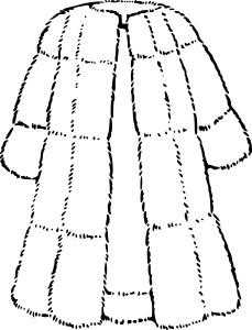 Coloriage cartable et dessin imprimer - Manteau dessin ...