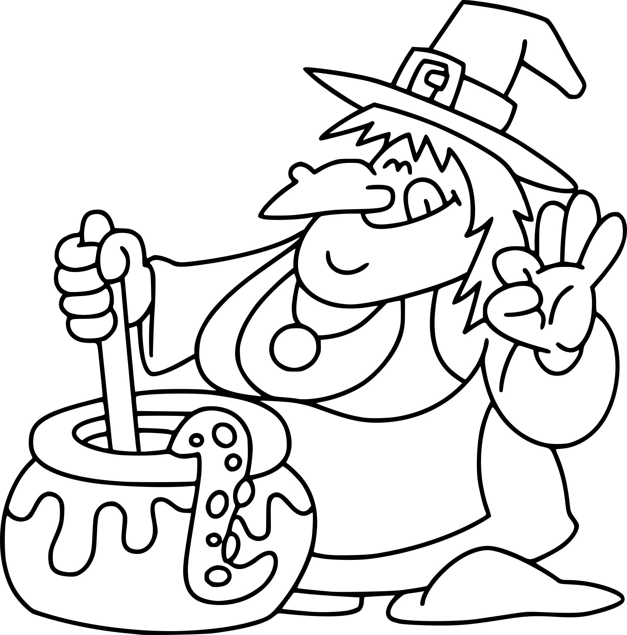Coloriage marmite de sorciere imprimer - Le jeux de la sorciere qui fait peur ...