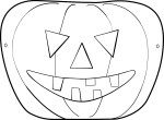 Coloriage masque pour halloween