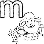 Coloriage M comme mouton