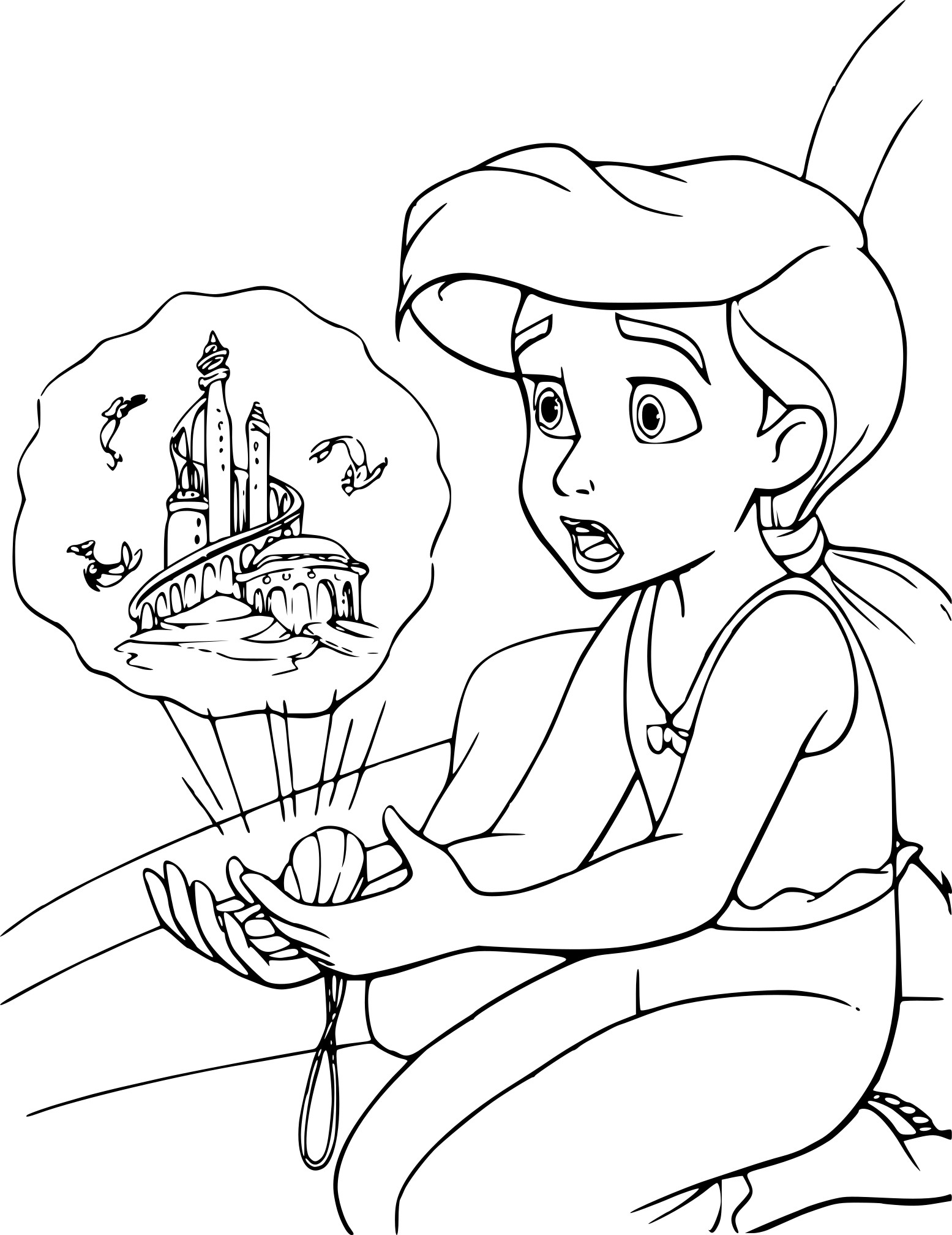 Coloriage Melodie Disney