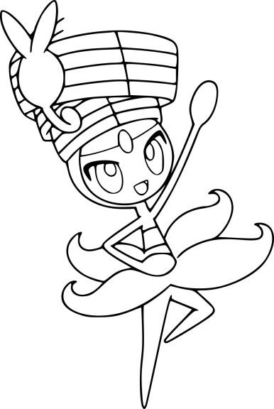Coloriage Meloetta danse Pokemon