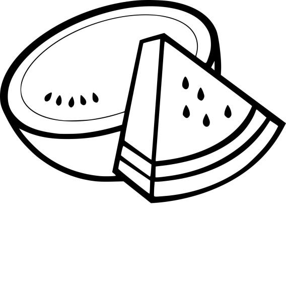 Coloriage melon d'eau