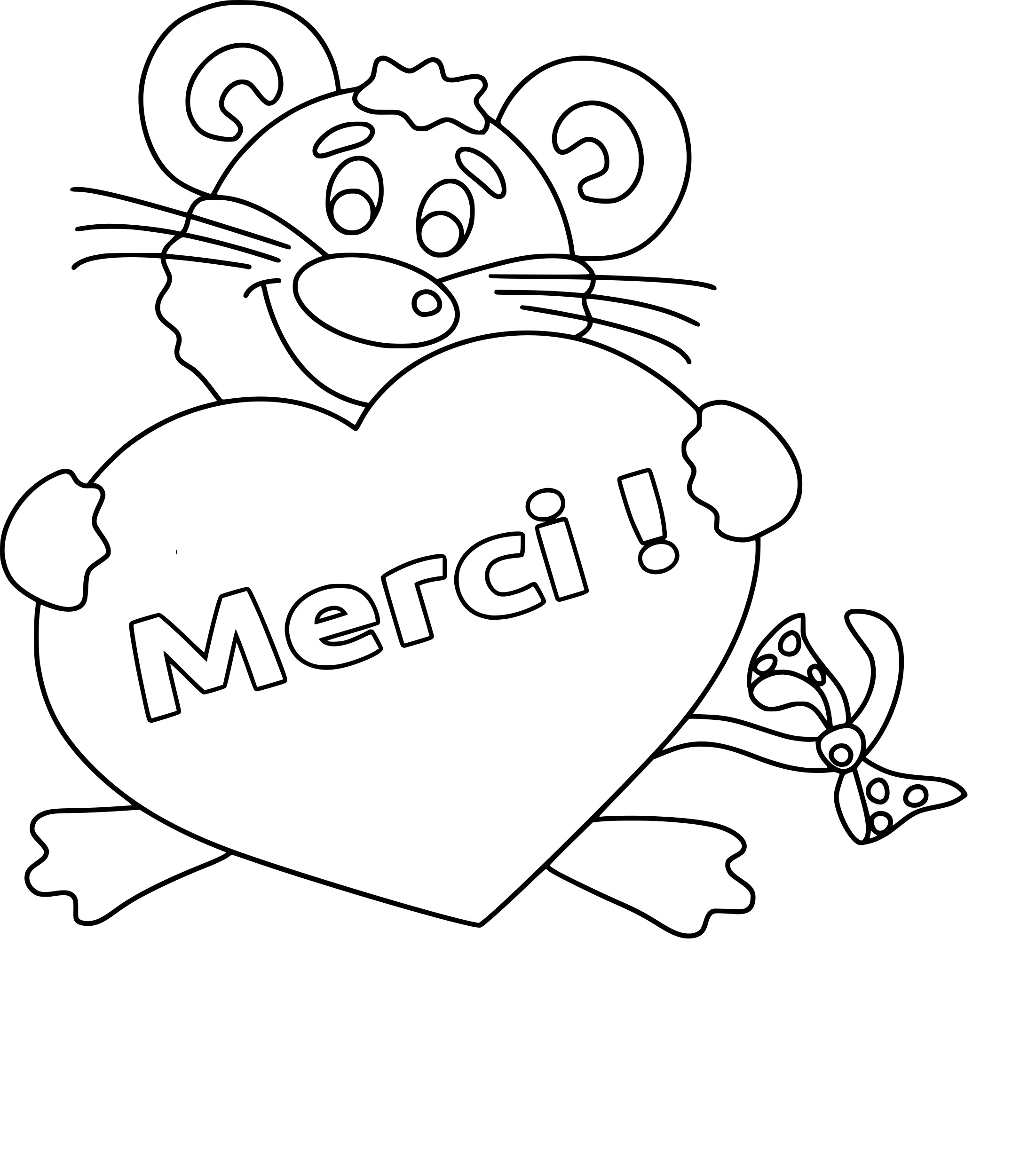 Coloriage merci