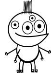 Coloriage monstre 4 yeux