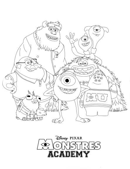 Coloriage Monstres Academy