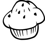 Coloriage muffin