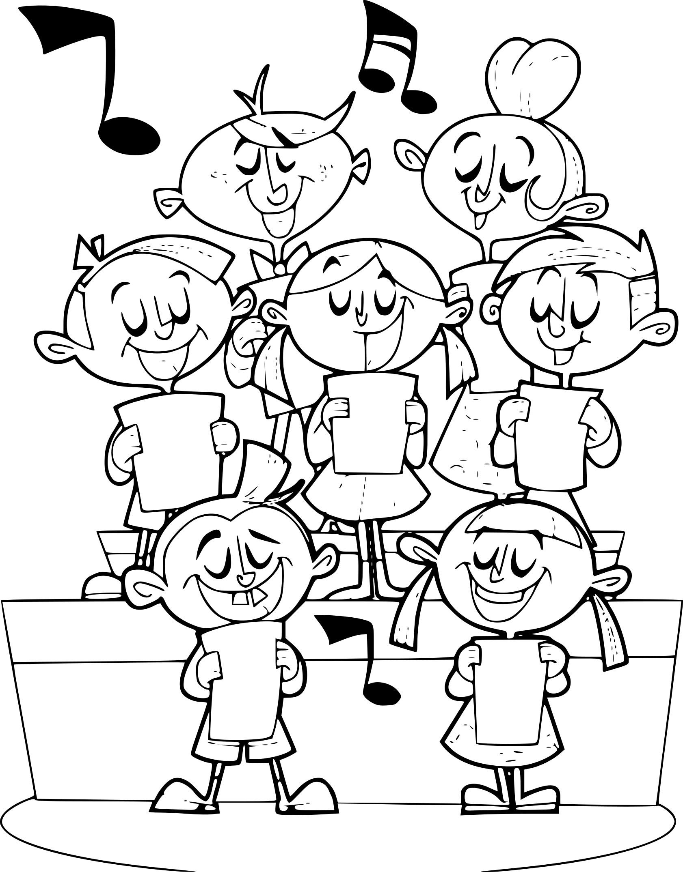Coloriage orchestre