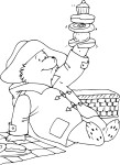 Coloriage Paddington gourmand