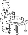 Coloriage patissier