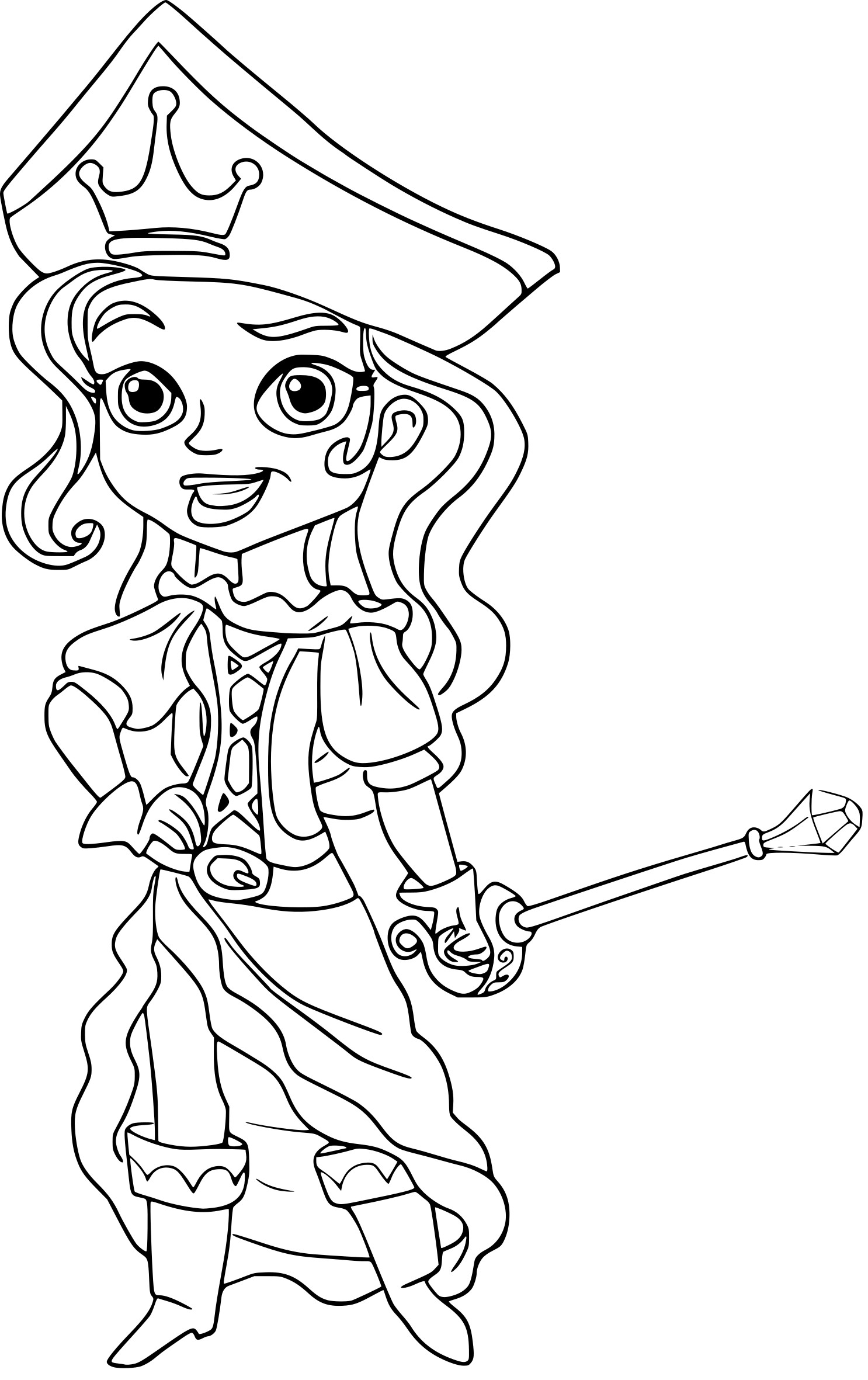 Coloriage princesse pirate