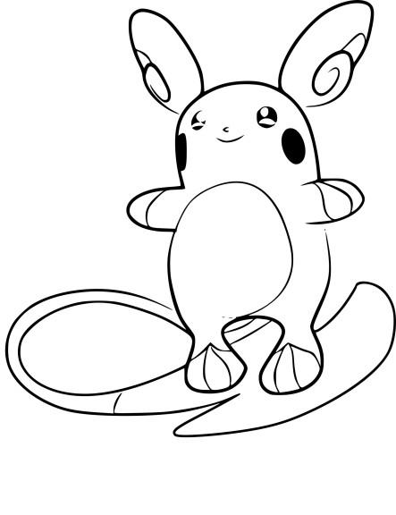 Coloriage raichu d alola pokemon imprimer - Dessin de pokemon facile ...