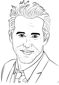 Coloriage Ryan Reynolds