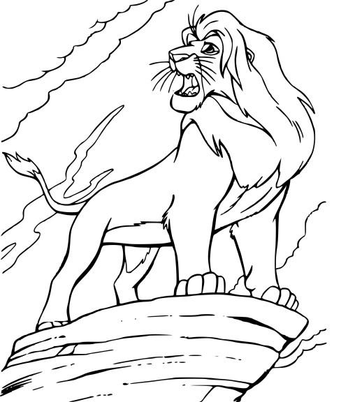 Coloriage Simba