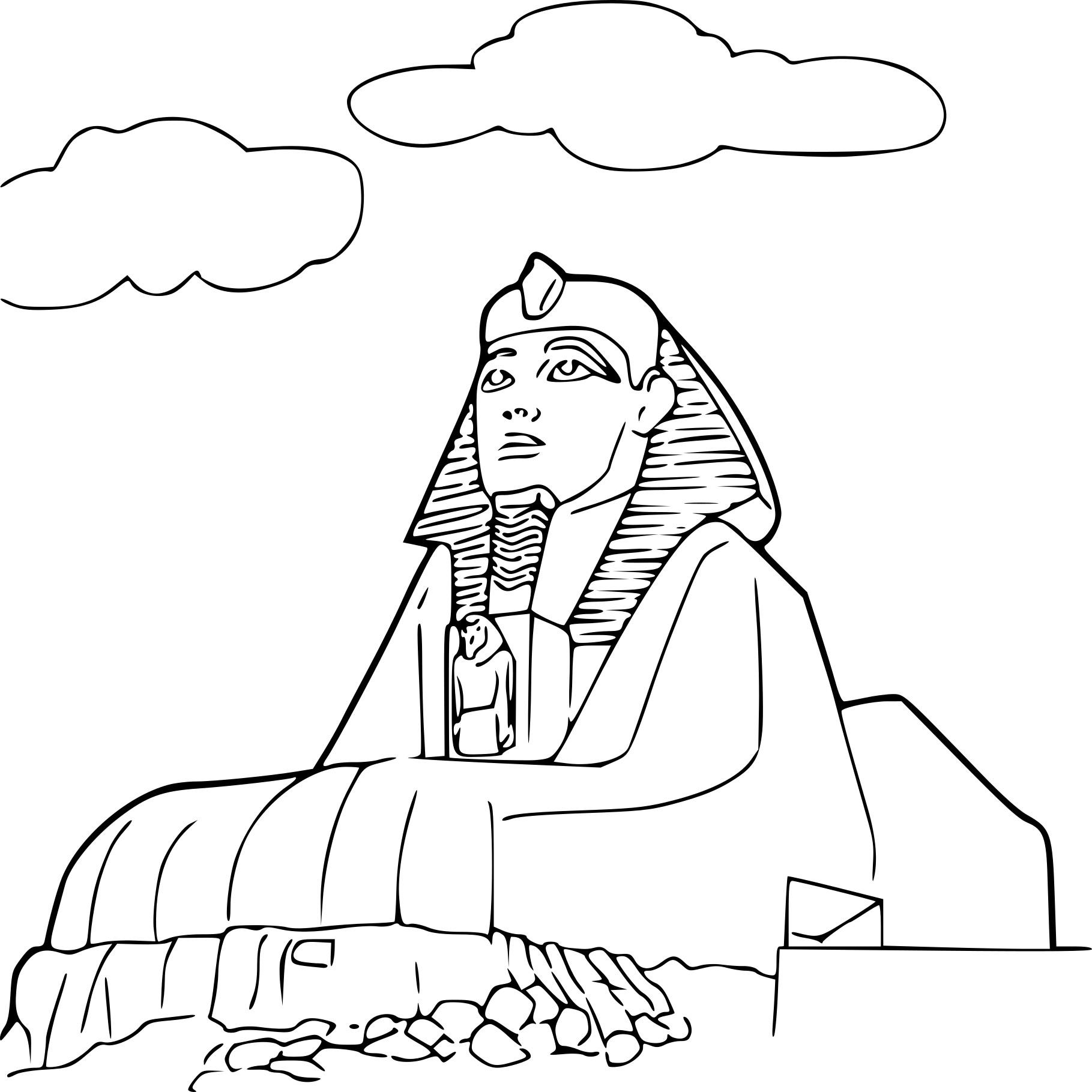 Coloriage Sphinx