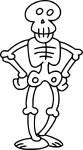 Coloriage squelette