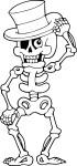 Coloriage squelette Halloween