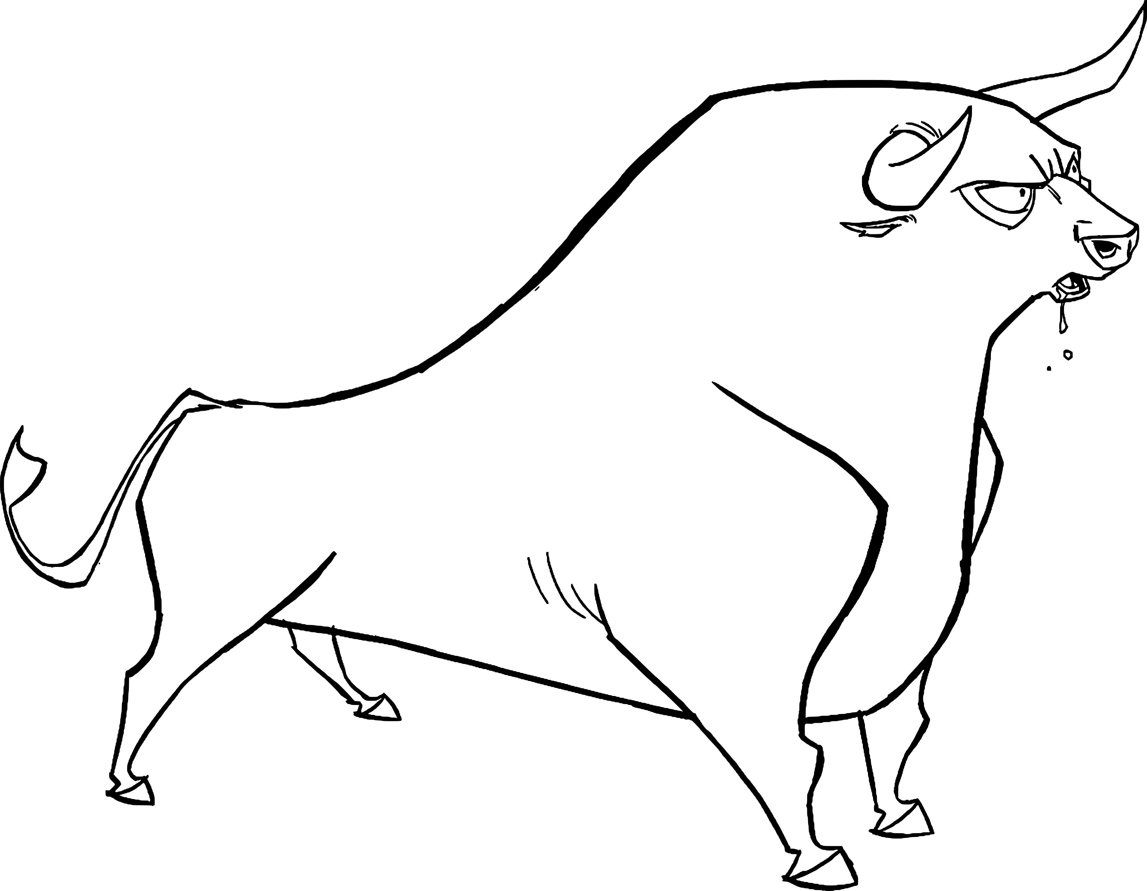 Coloriage taureau de corrida