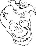 Coloriage tete de mort halloween