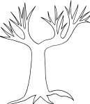 Coloriage tronc arbre