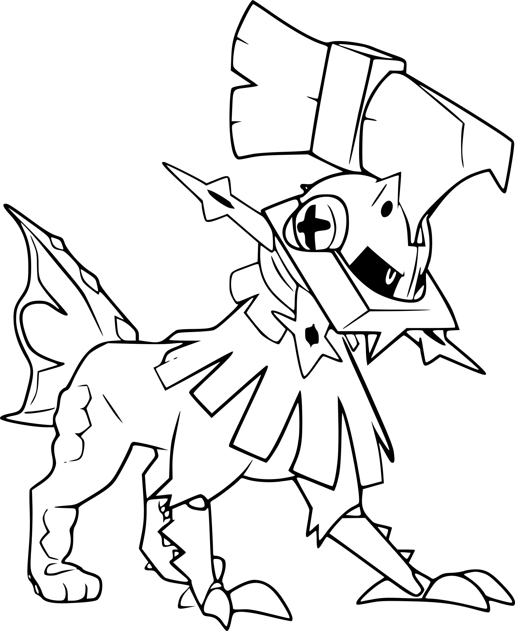 Coloriage Aquali Pokemon à Imprimer