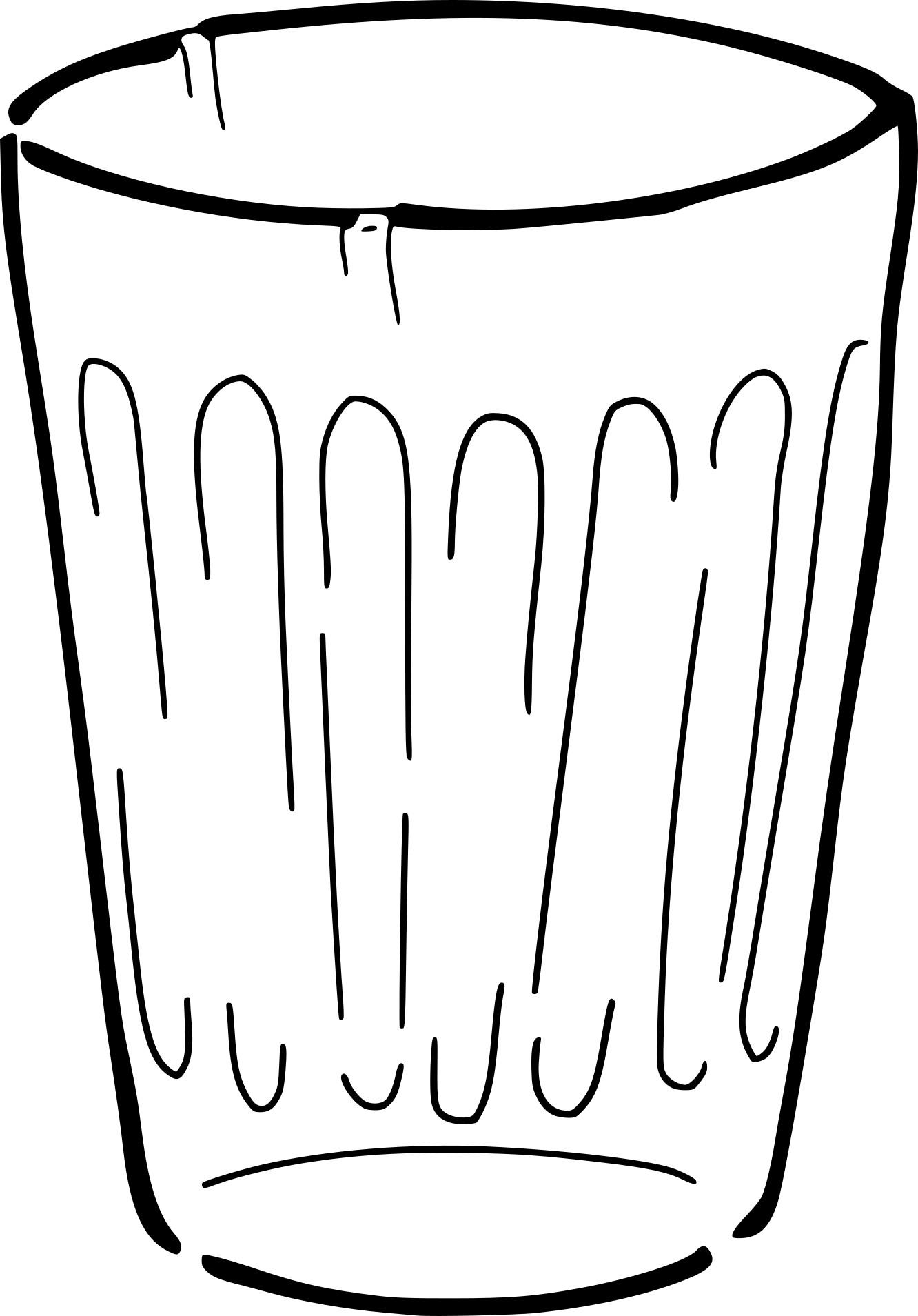 Coloriage verre à boire